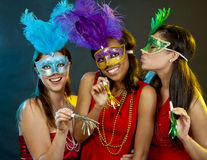 Group of women partying Royalty Free Stock Photography