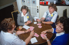 A group of women playing bridge Stock Images