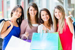 Group of women shopping Stock Photos
