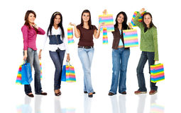 Group of women shopping Stock Photo