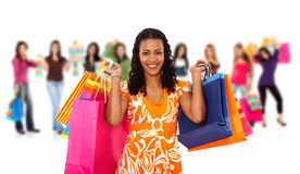 Group of women shopping Stock Image