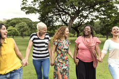 Group of Women Socialize Teamwork Happiness Concept. Group of Women Socialize Teamwork Happiness Stock Image