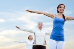 Group of women stretching Royalty Free Stock Photo
