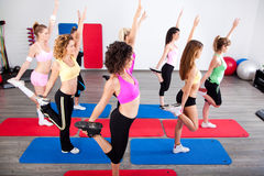 Group of women, stretching Royalty Free Stock Image