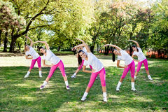 Group of women stretching Royalty Free Stock Image