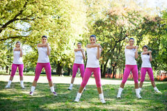 Group of women stretching to warm up Royalty Free Stock Photography