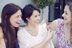 Group of women talking Stock Images