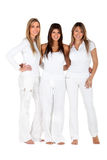 Group of women in white Royalty Free Stock Images
