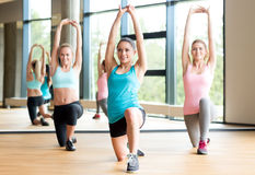 Group of women working out in gym Stock Photography