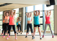 Group of women working out in gym Royalty Free Stock Photo