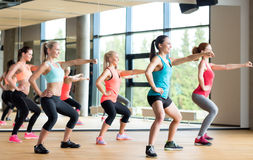 Group of women working out in gym Stock Photo