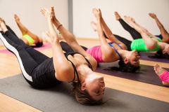 Group of women during yoga class Stock Photography