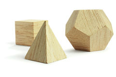 group of wood block models Royalty Free Stock Images