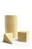 Group of wood block models royalty free stock photos