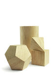 Group of wood block models Royalty Free Stock Photo