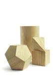 Group of wood block models royalty free stock photo