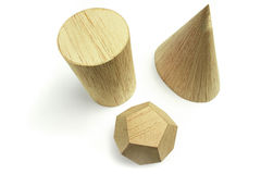 Group of wood block models Royalty Free Stock Photography