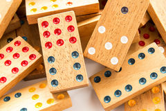 Wood domino Stock Photography