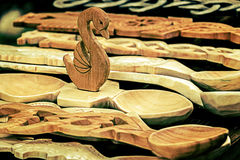 Group of wood objects, traditional romanian 1 Stock Image