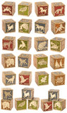 Group of Wooden Blocks Royalty Free Stock Photography