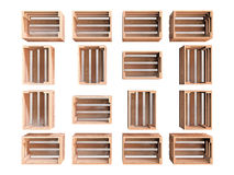 Group of Wooden Crates Stock Photos