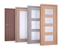 Group of wooden doors Stock Images