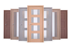 Group of wooden doors Royalty Free Stock Image