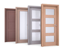 Group of wooden doors Stock Image