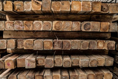 The group of wooden pallet in the factory. Stock Images