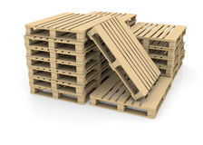 Group wooden pallets Royalty Free Stock Photography