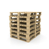 Group wooden pallets Stock Photography