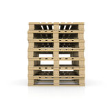 Group wooden pallets Royalty Free Stock Image