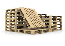 Group wooden pallets Royalty Free Stock Photo