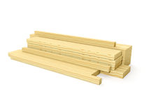 A group of wooden planks Royalty Free Stock Images