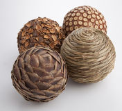 Group of wooden spheres Royalty Free Stock Photo