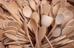 Group of wooden spoons Stock Photography