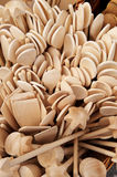 Group of wooden spoons Royalty Free Stock Photo