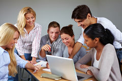Group work in university. Studients doing group work in university class Stock Photography