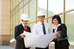 Group of workers Royalty Free Stock Image