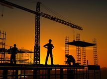 Group of the workers Royalty Free Stock Photography