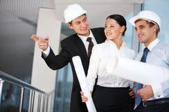 Group of workers Royalty Free Stock Photography