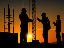 Group of the workers Royalty Free Stock Image