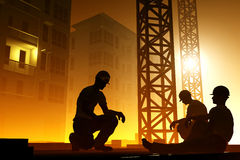 The group of workers Royalty Free Stock Image