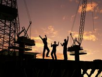 Group of the workers Royalty Free Stock Photo