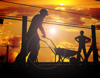 Group of the workers stock photography