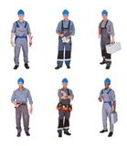 Group of workers with equipment Royalty Free Stock Images