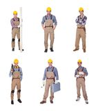 Group of workers with equipment Stock Photos
