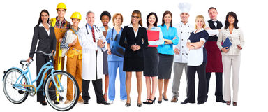 Group of workers people. royalty free stock photos