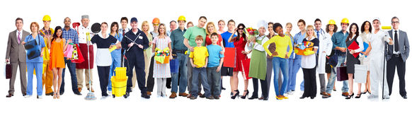 Group of workers people. royalty free stock image