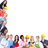 Group of workers people. stock photography